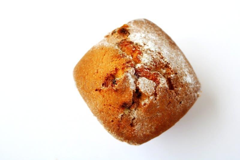 Bild für Auslegung Kuchen Kleiner Kuchen mit Rosinen Kleiner Kuchen im Pulver gebäck Nachtisch zartheit lizenzfreies stockfoto