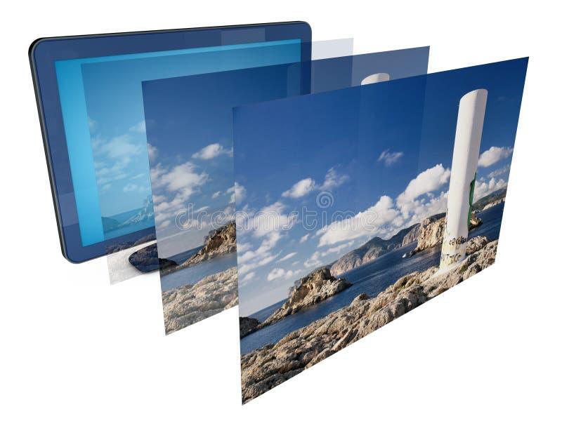 Bild Fernsehapparat3d lizenzfreie abbildung