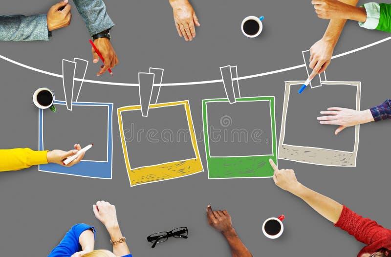 Bild-Fotografie-Rahmen-Bild-Kreativitäts-Konzept stockfotografie
