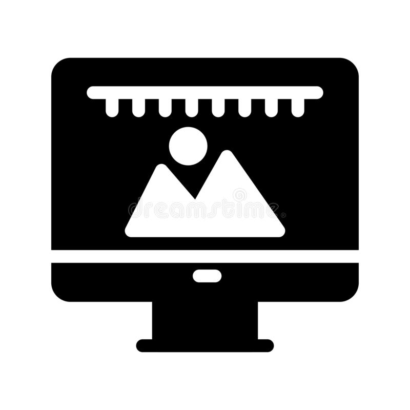 Bild Glyph-Vektorikone lizenzfreie abbildung