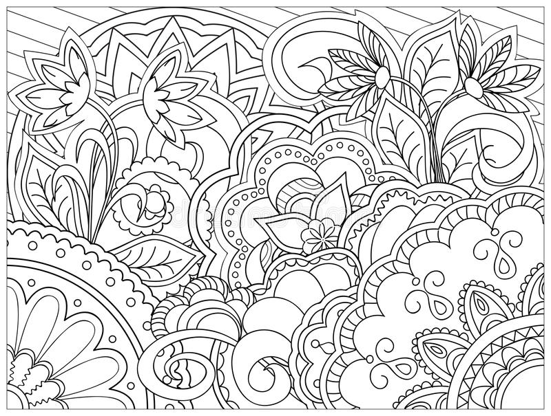 Bild i zentanglestil vektor illustrationer
