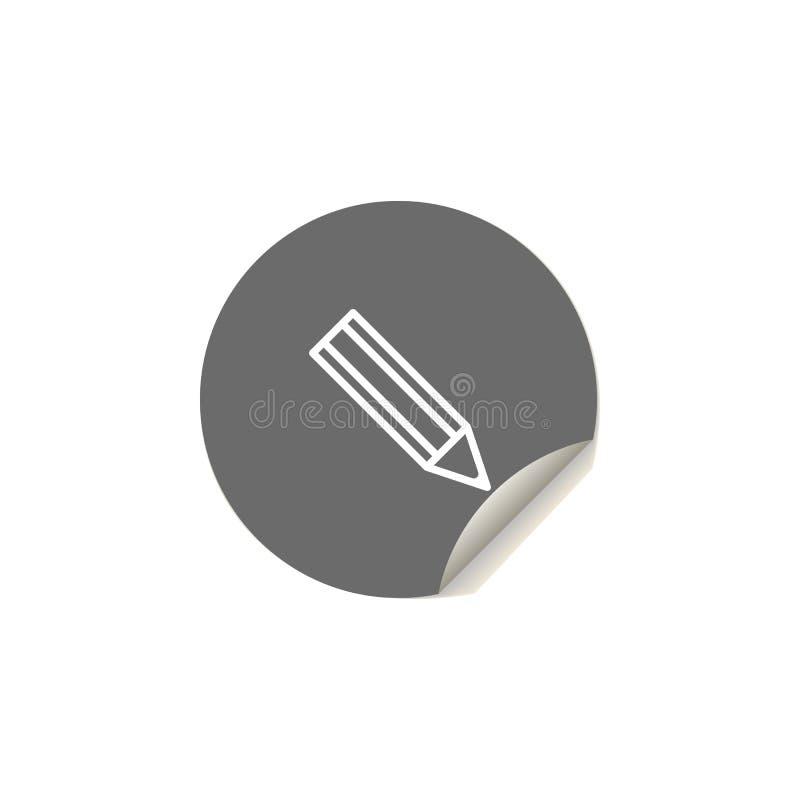 Bild lokalisiert auf blauem Hintergrund Element von Netzikonen für bewegliche Konzept und Netz apps Aufkleberart-Bleistiftikone k stock abbildung