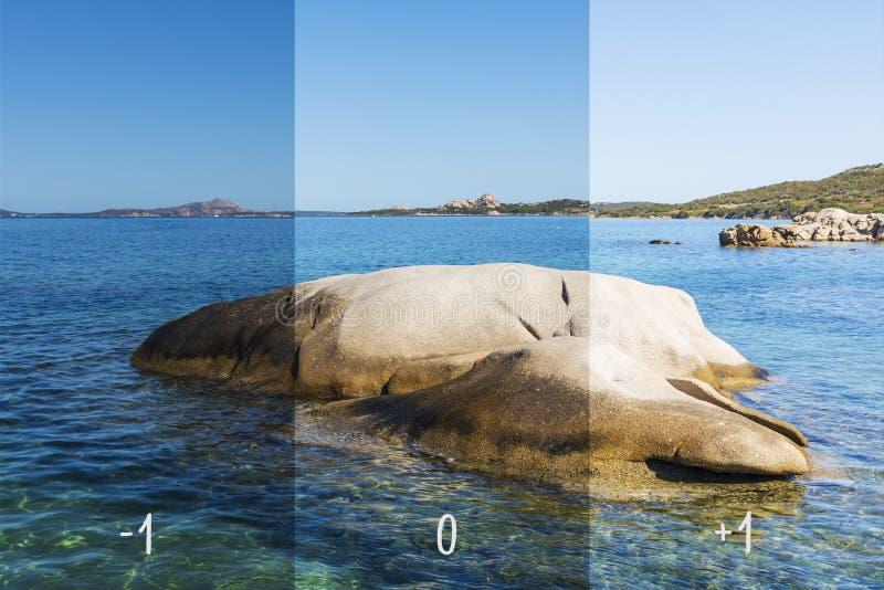 Bild med olika exponeringar arkivbild