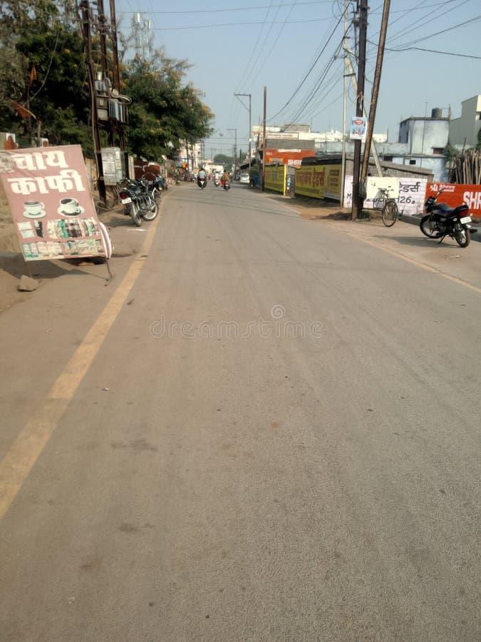 Bild på gatan i den indiska staden royaltyfria bilder