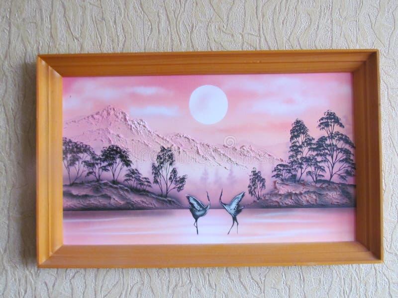 Bild på väggen fotografering för bildbyråer