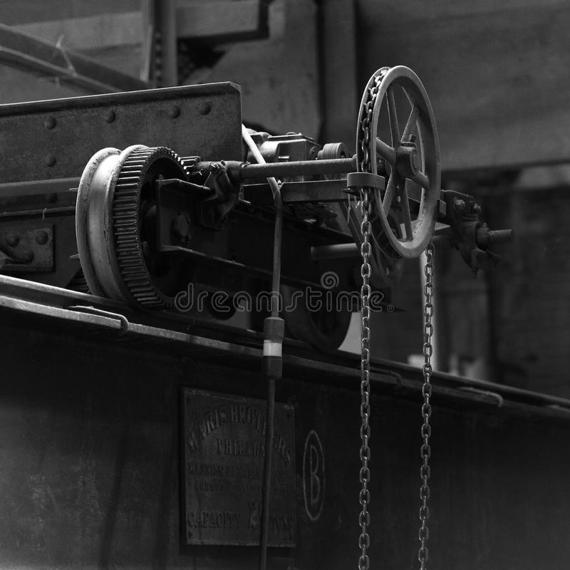 Bild von alten Maschinengangrädern stockfotos