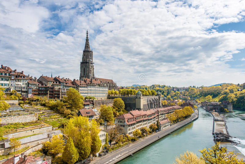 Bild von Bern, schöne alte Stadt im Herbst stockfoto
