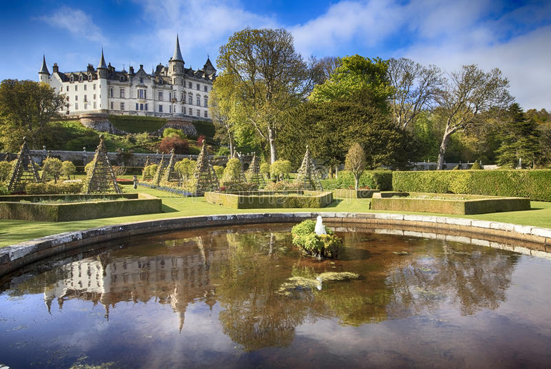 Dunrobin Schloss in Schottland lizenzfreie stockfotografie
