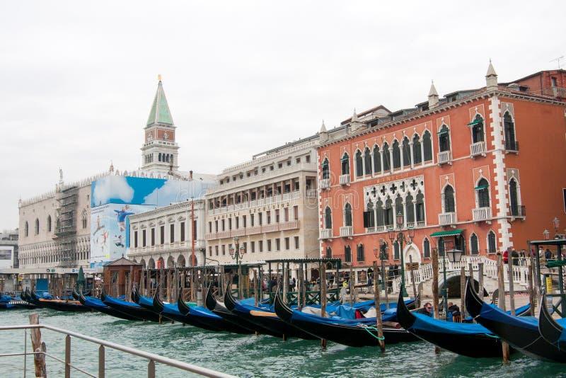 Bild von Gondeln auf Grand Canal, Venedig lizenzfreie stockfotos