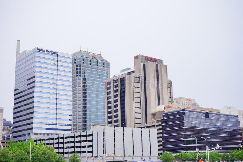 Bild von im Stadtzentrum gelegenem Indianapolis, stockbild