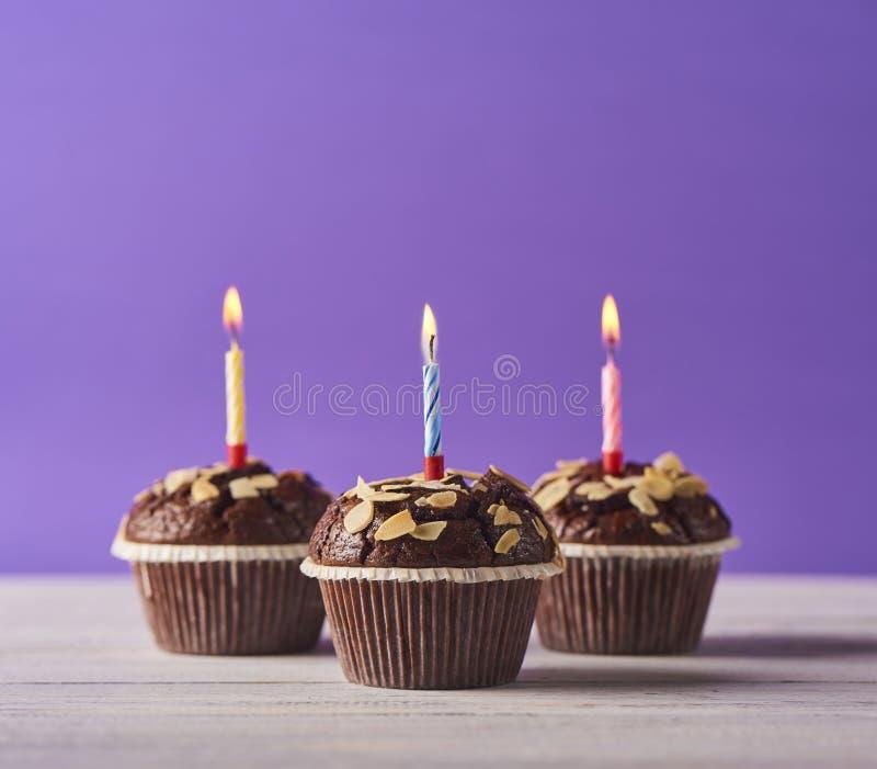 Bild von köstlichen Schokoladenmuffins lizenzfreies stockbild