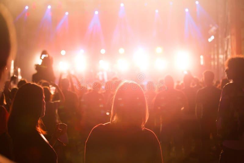 Bild von Parteileuten auf Musikfestival lizenzfreie stockfotos