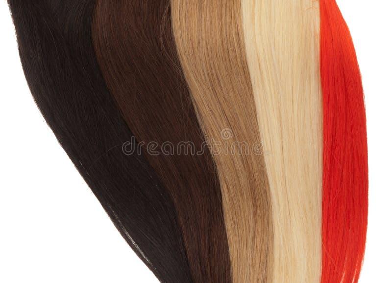 Bild von remy Frau ` s Haarerweiterungen in den verschiedenen Farben lizenzfreie stockbilder