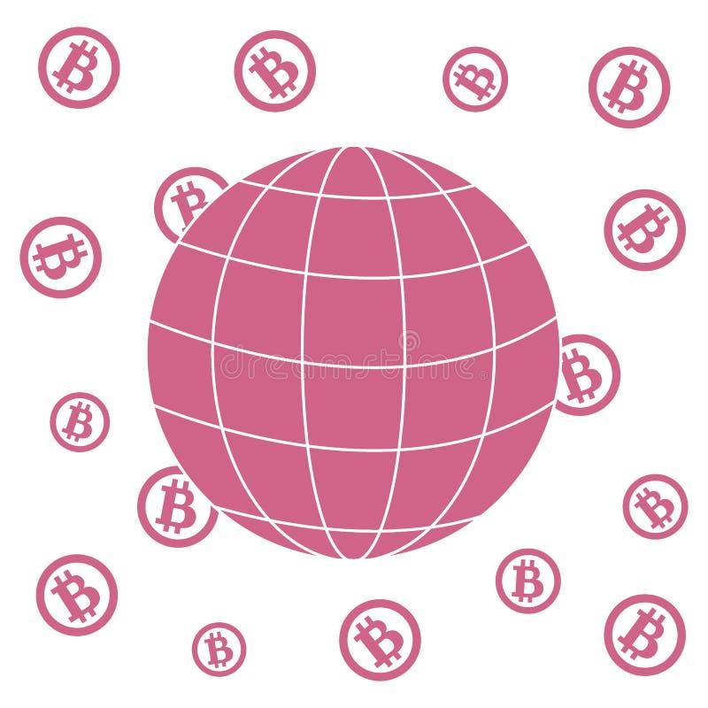 Bild, welches die Möglichkeit der Anwendung von bitcoin als Mittel des Lohns zeigt lizenzfreie abbildung