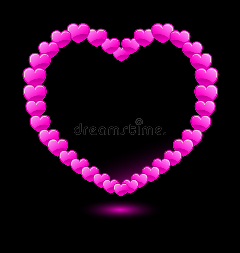 bilda hjärta shape hjärtor vektorn stock illustrationer