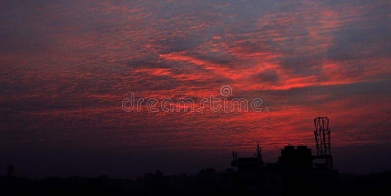 bildande av himmel på evengingen royaltyfria bilder