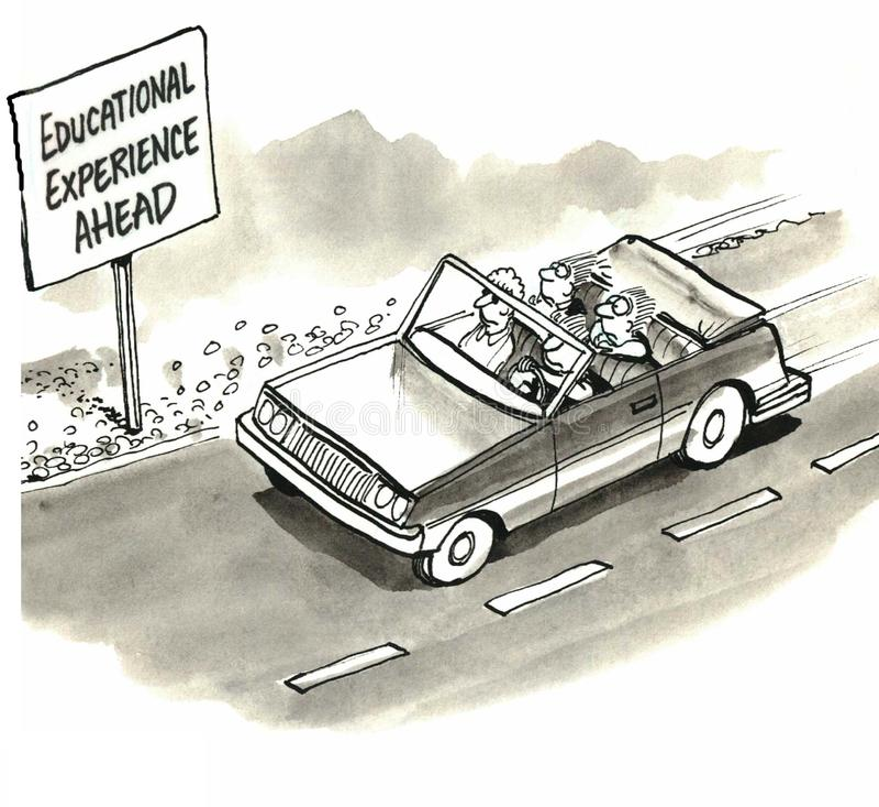 Bildande erfarenhet vektor illustrationer