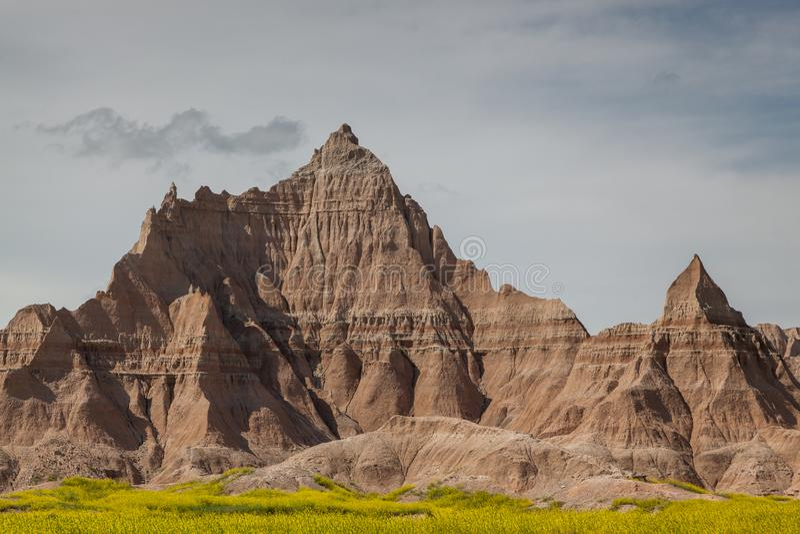 Bildande för Badlandsnationalparkberg arkivfoton