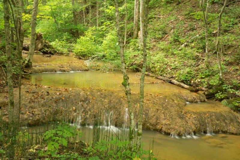 Bildande för vatten för trappamomentTravertine arkivfoto