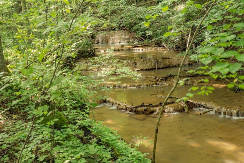Bildande för vatten för trappamomentTravertine - 2 arkivfoto