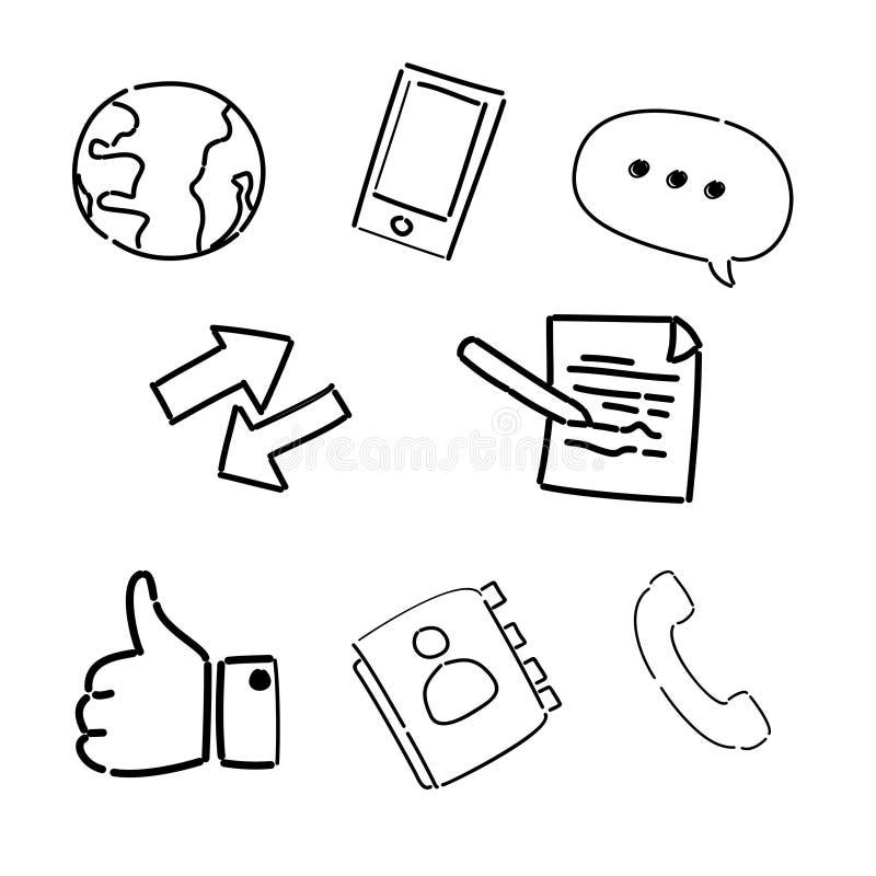 Bildande klotter för website vektor illustrationer
