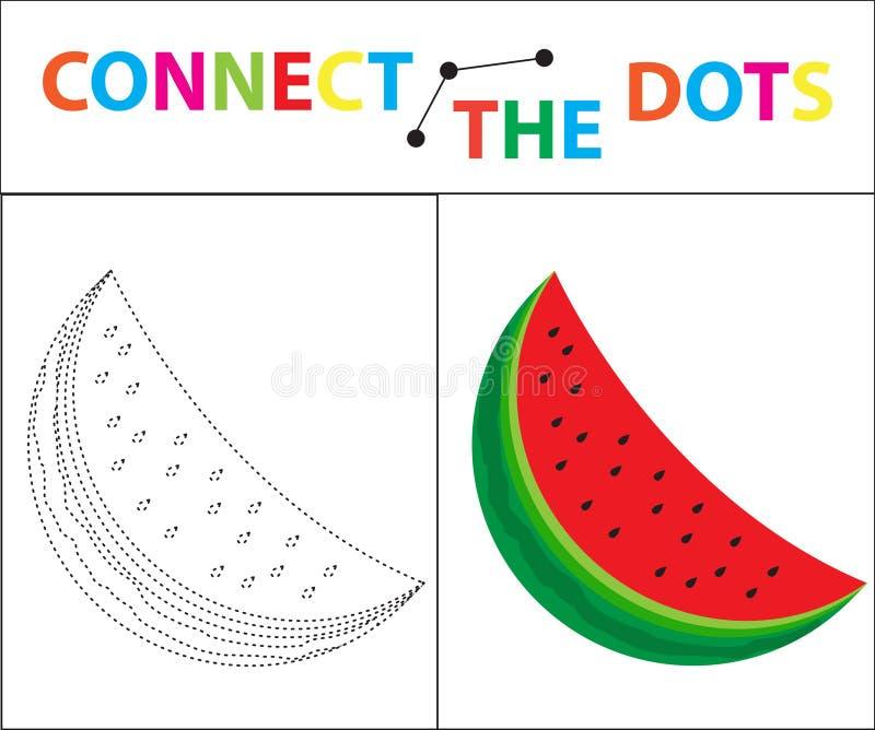 Bildande lek för barn` s för motorisk expertis Förbind prickbilden För barn av den förskole- åldern Cirkel på royaltyfri illustrationer