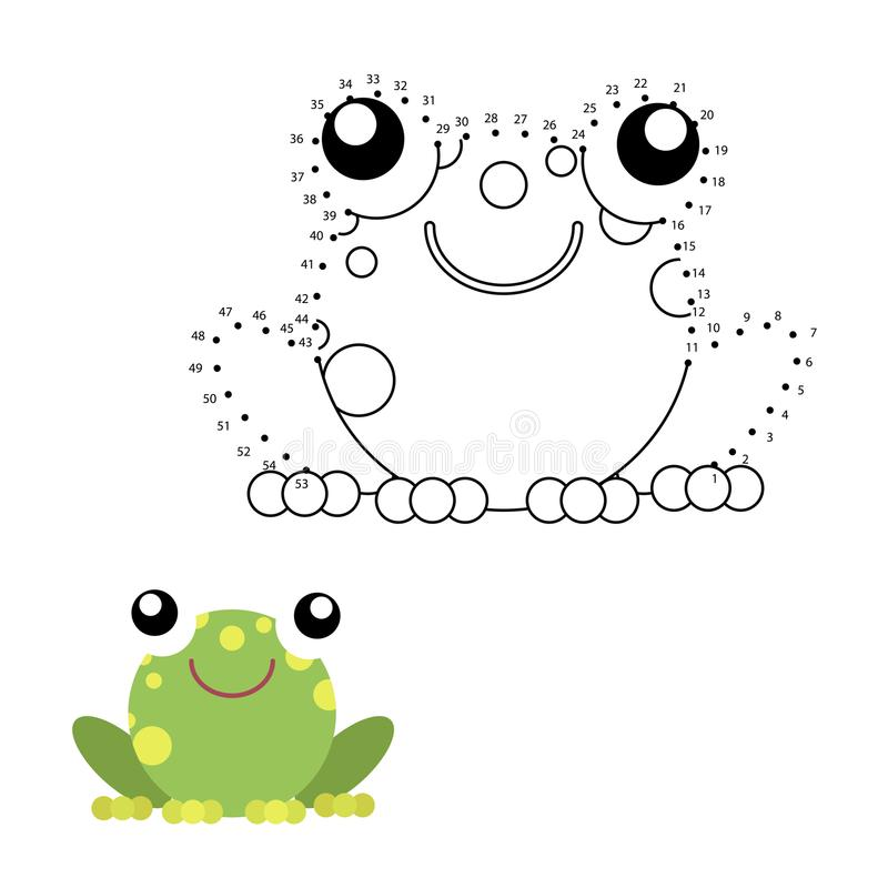 Bildande lek för ungar: Prick som ska prickas vektor illustrationer