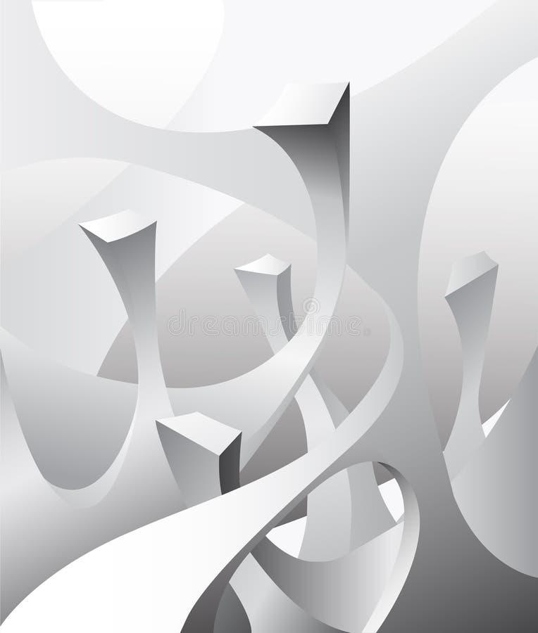 bildar geometriskt royaltyfri illustrationer