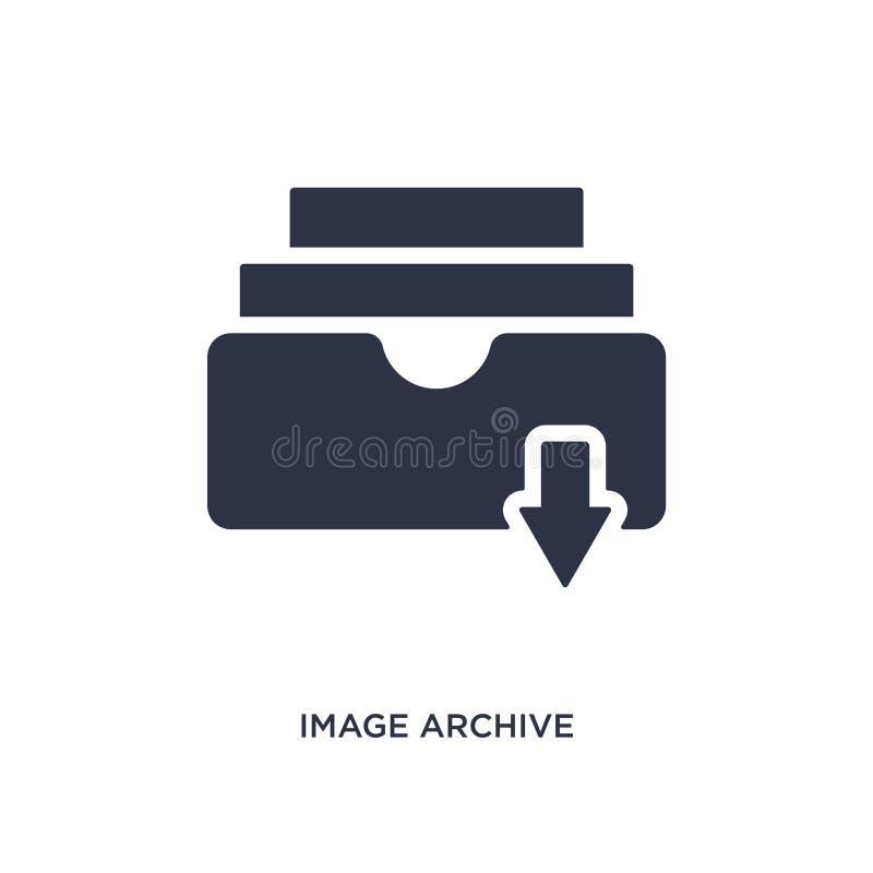 Bildarchivikone auf weißem Hintergrund Einfache Elementillustration von der Musik und von der Werbekonzeption vektor abbildung