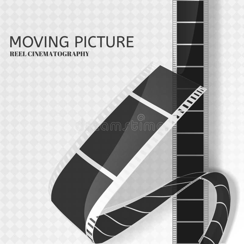 Bildbandbakgrund för film 3d stock illustrationer