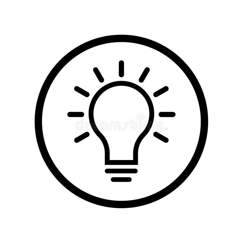 Bilddagramm der Glühlampeikone im Kreis - vector ikonenhaftes Design lizenzfreie abbildung