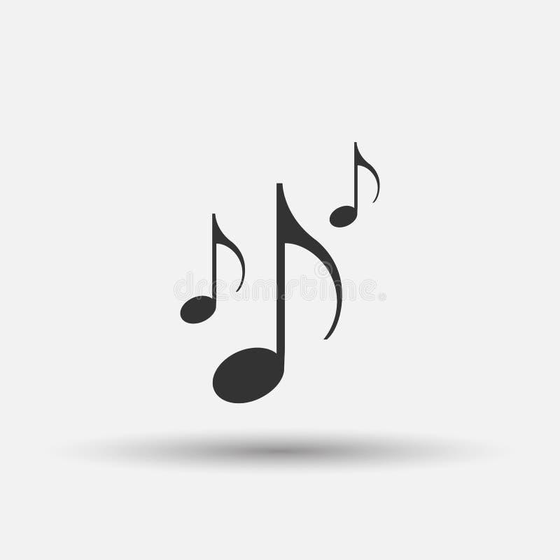 Bilddagramm der Musikanmerkung Beachten Sie Ikone vektor abbildung