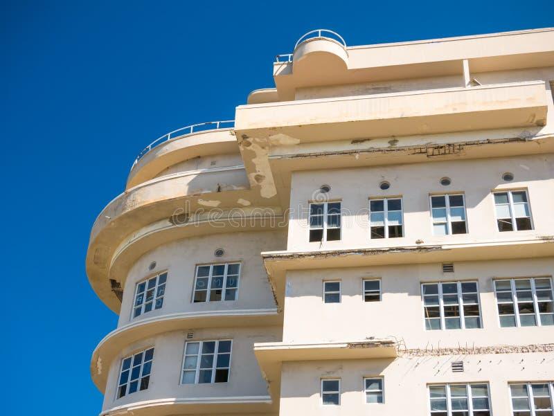 Bilden av det en gång berömda Normandie hotellet övergav i ett tillstånd av fördärvar juan Puerto Rico san arkivfoton