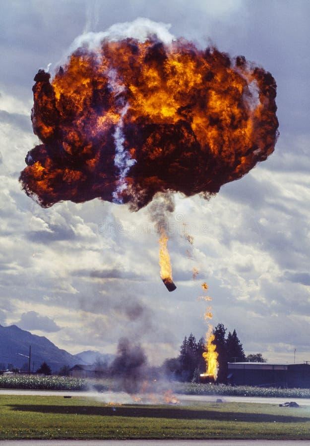 Bilden av en trumma bombarderar explosion royaltyfria foton