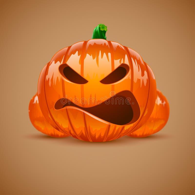 Bilden av halloweeen pumpa royaltyfri illustrationer
