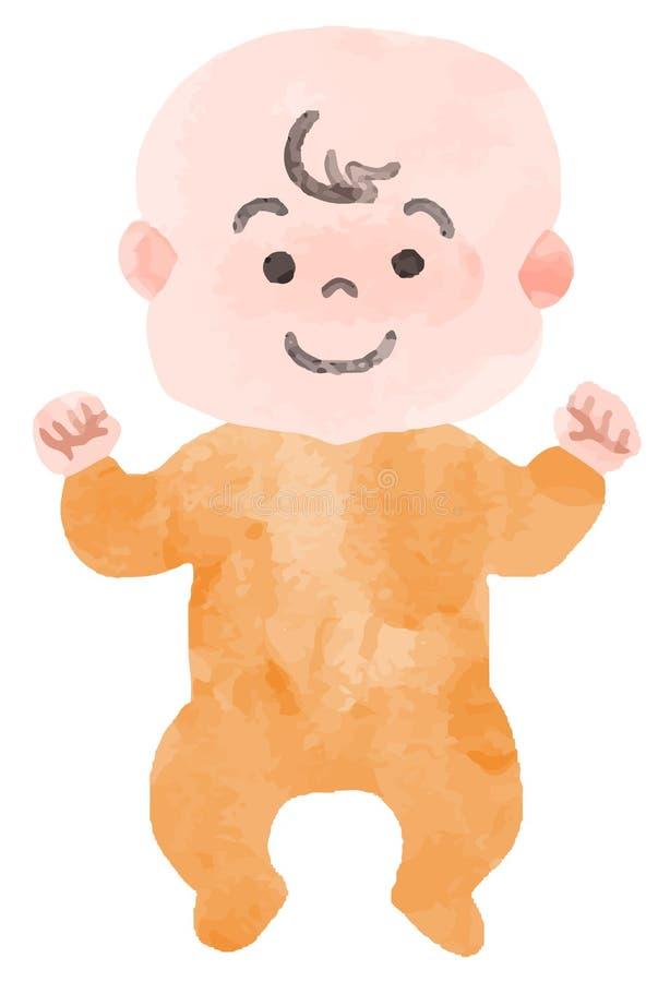 Bilden av le behandla som ett barn vektor illustrationer