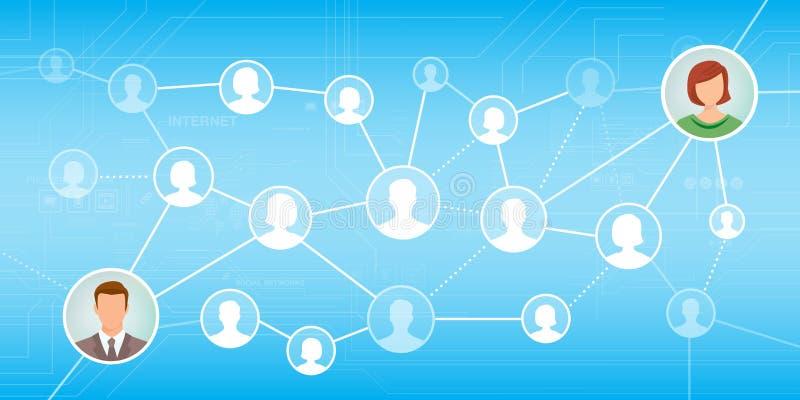 bilden för nätverket 3d framförde samkväm vektor illustrationer