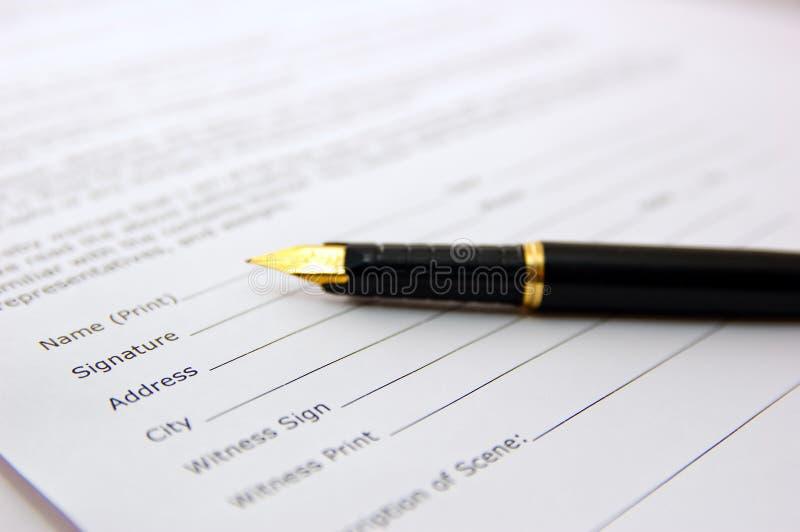 Bilden Sie ein Abkommen lizenzfreie stockfotografie