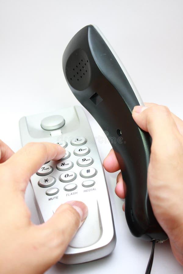 Bilden Sie einen Aufruf stockbild
