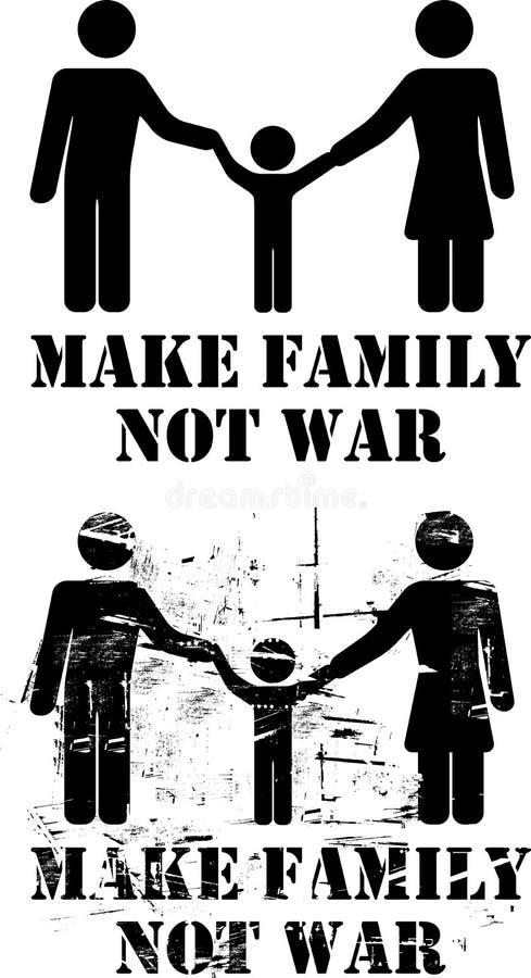 Bilden Sie Familien-nicht Krieg vektor abbildung