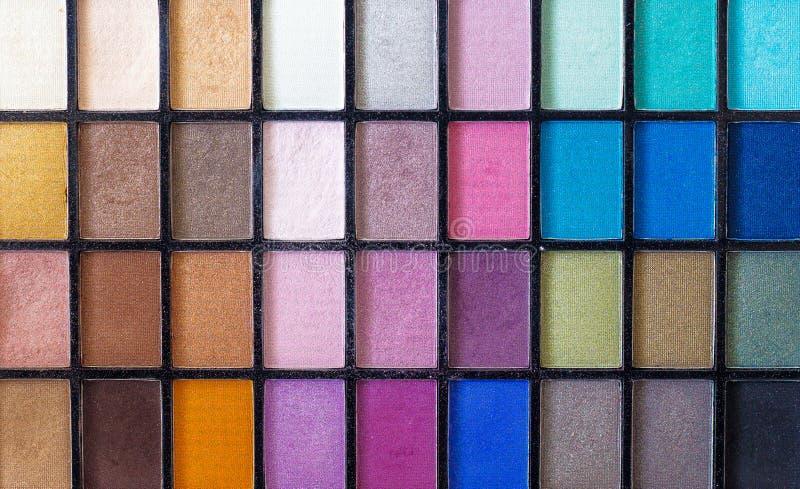 Bilden Sie Farbpalette mit netten Details über den verschiedenen Farben lizenzfreie stockfotografie