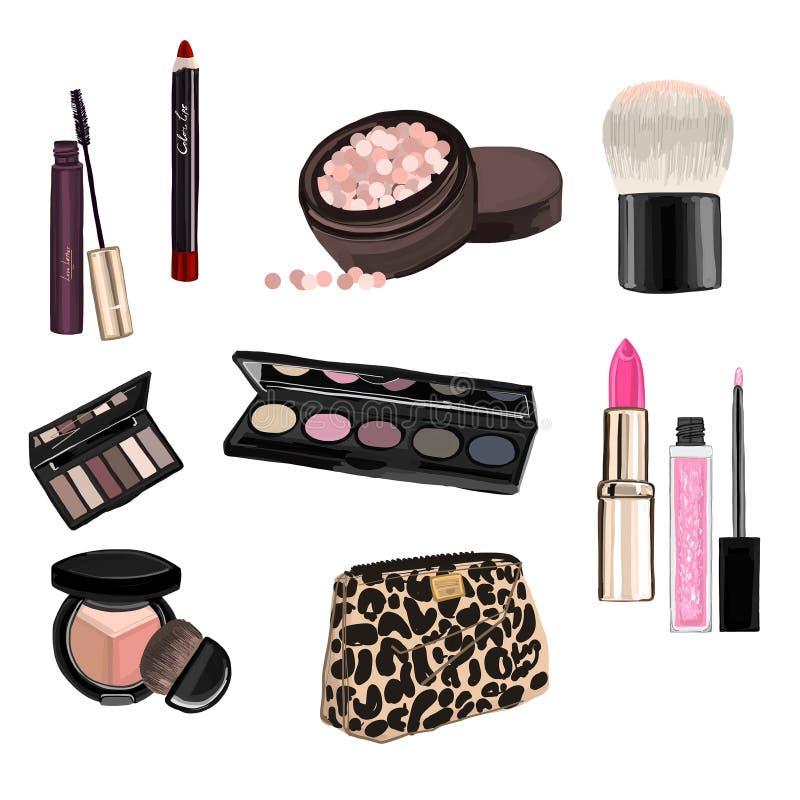 Bilden Sie Illustration mit Lippenstift stock abbildung