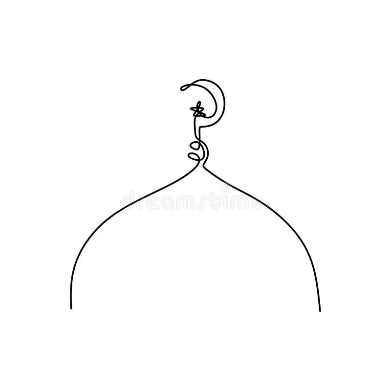 bilder av fortlöpande linjer av moskékupoler vektor illustrationer