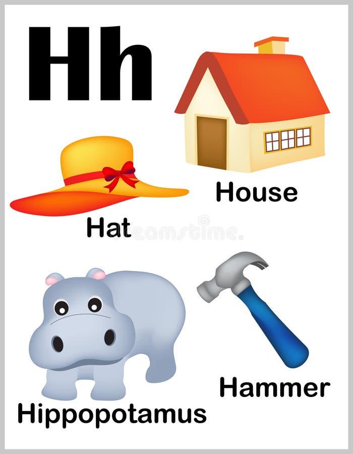 Bilder för alfabetbokstavsH vektor illustrationer