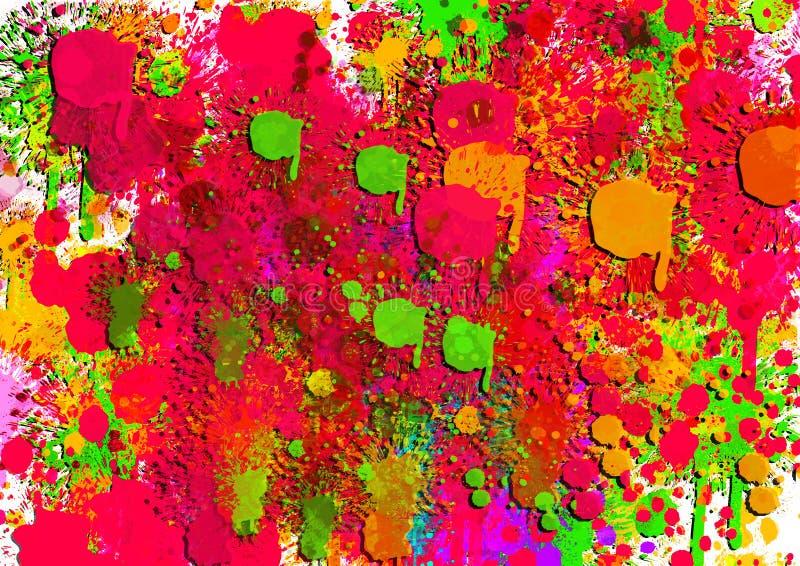 Bilder för färgrika bakgrunder för designillustration stock illustrationer