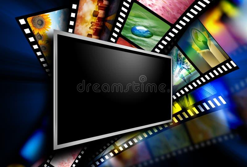 Bilder för filmskärmfilm royaltyfri fotografi
