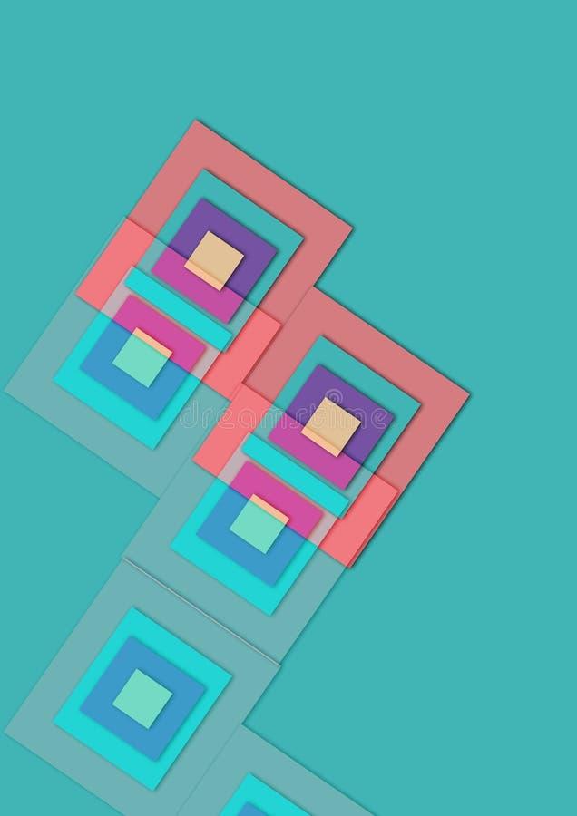 Bilder für abstrakten bunten Beschaffenheitsquadrathintergrund vektor abbildung
