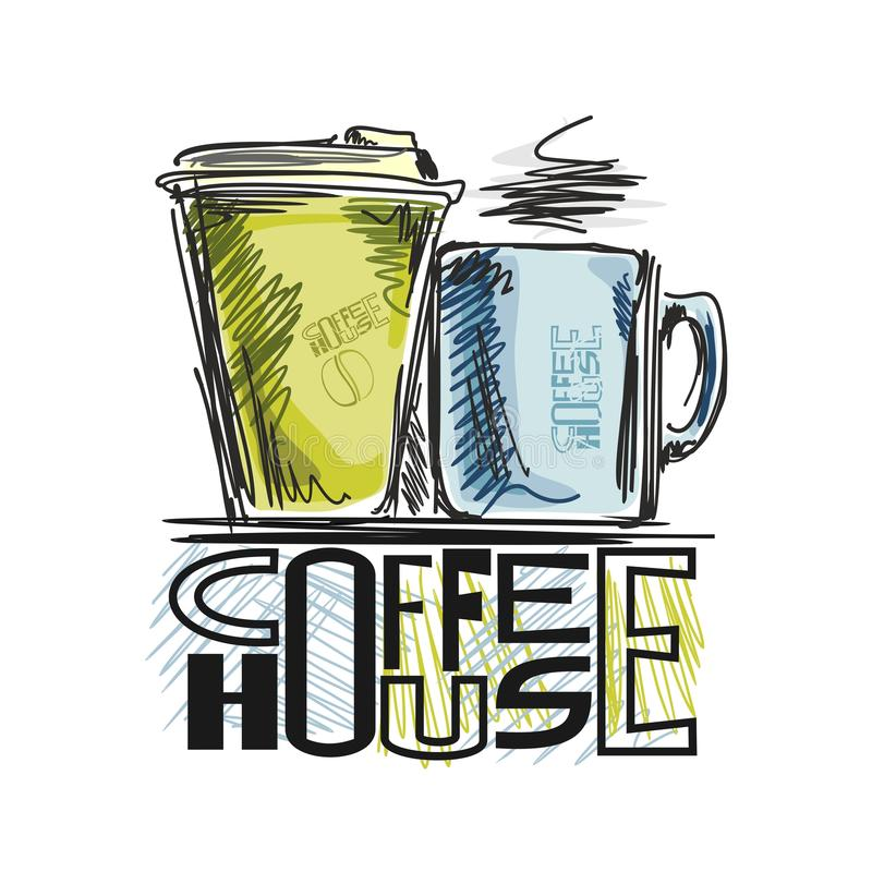 Bilder på kaffe royaltyfri illustrationer
