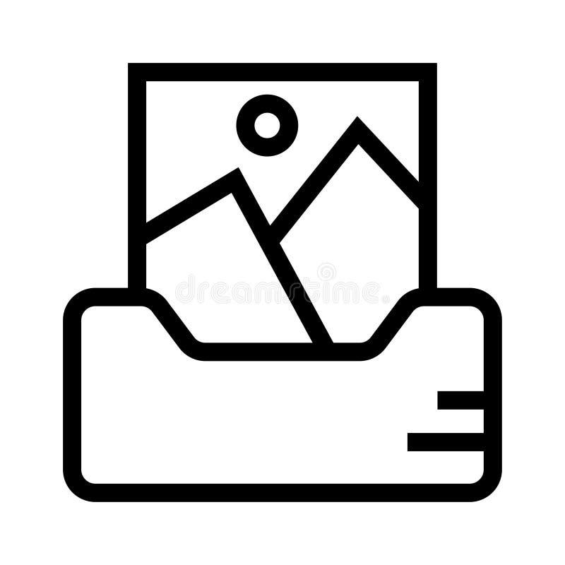Bilderbuchvektorlinie Ikone stock abbildung