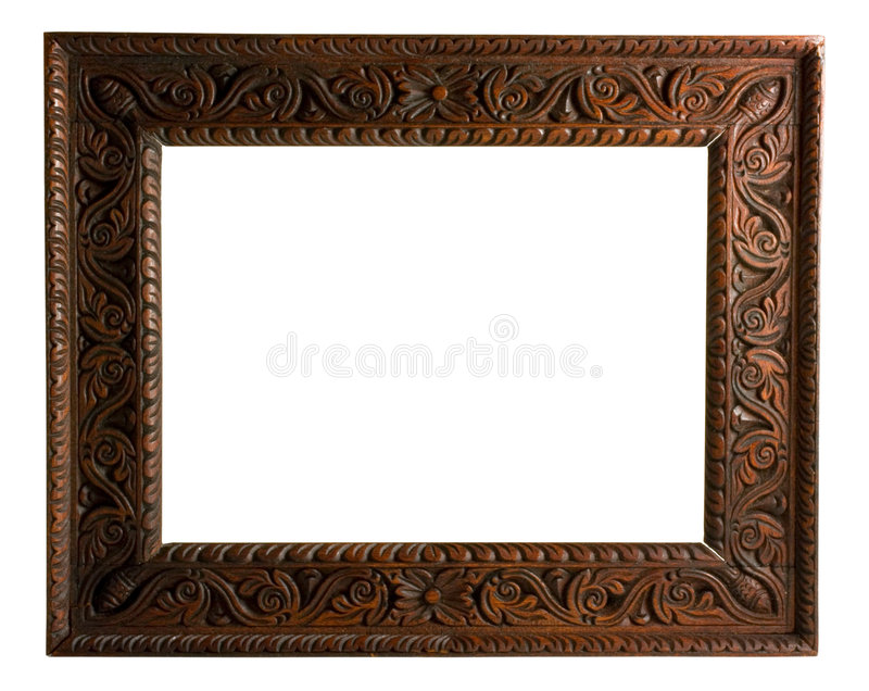 Bilderrahmen mit Ausschnittspfad stockfotografie